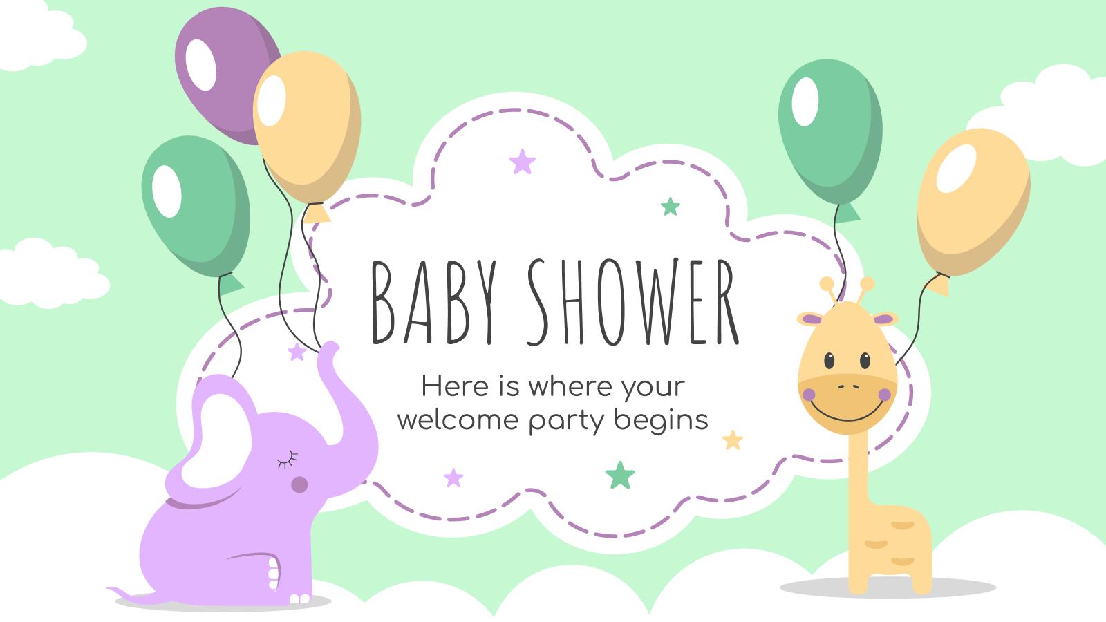 Baby Shower : Modèles de présentation