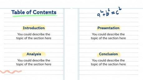 Online-Notizbuch Präsentationsvorlage