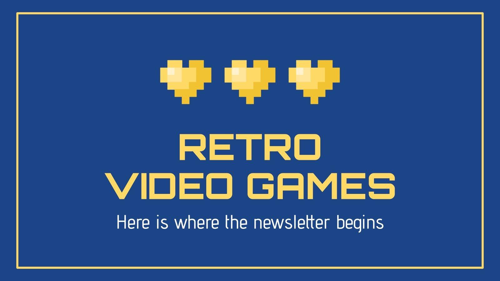 Newsletter für Retro-Videospiele Präsentationsvorlage
