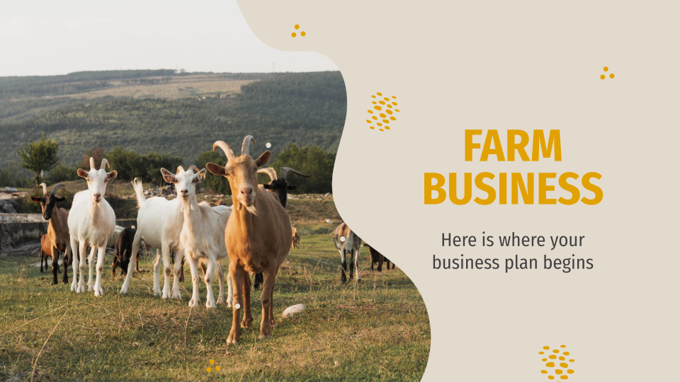 Farm Business Plan presentation template