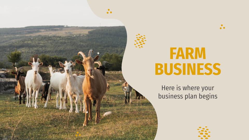 Plantilla de presentación Plan de negocios para ganadería