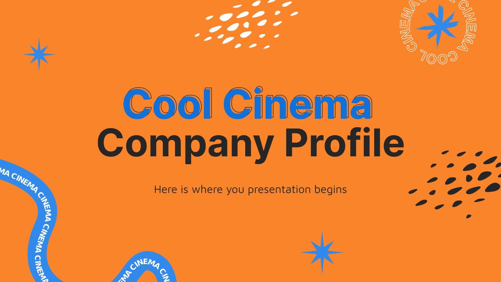 Modelo de apresentação Perfil da empresa de um cinema