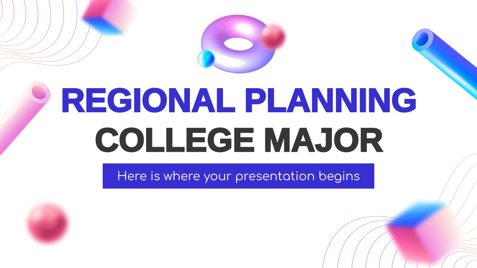 Diplôme de planificateur régional : Modèles de présentation