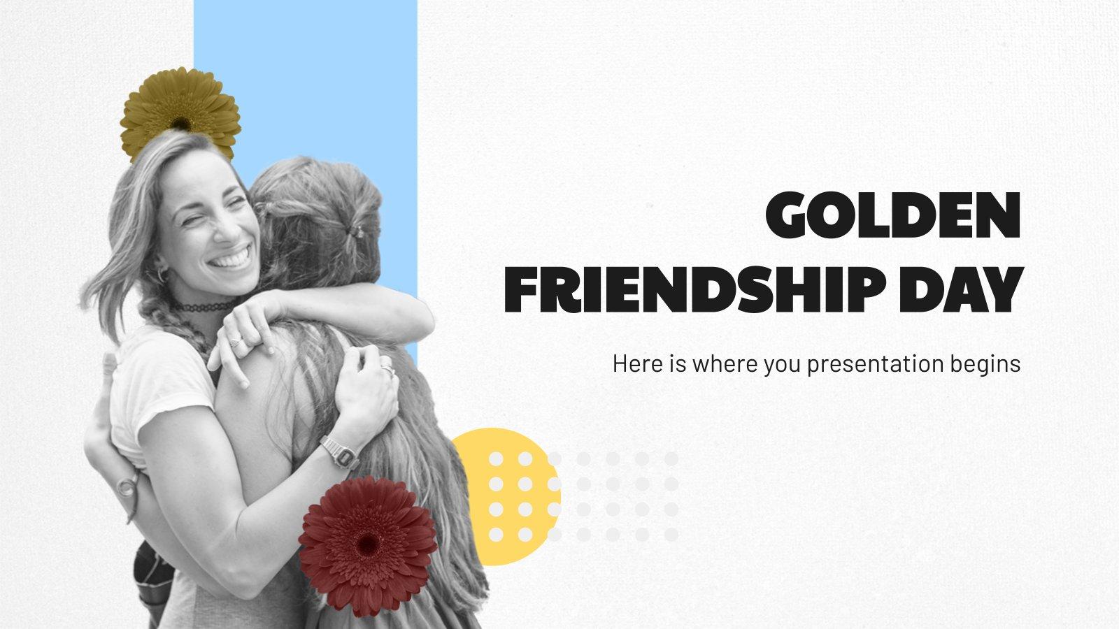 Modelo de apresentação Dia da Amizade de Ouro