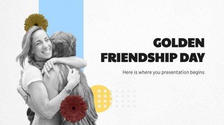 Golden Friendship Day presentation template