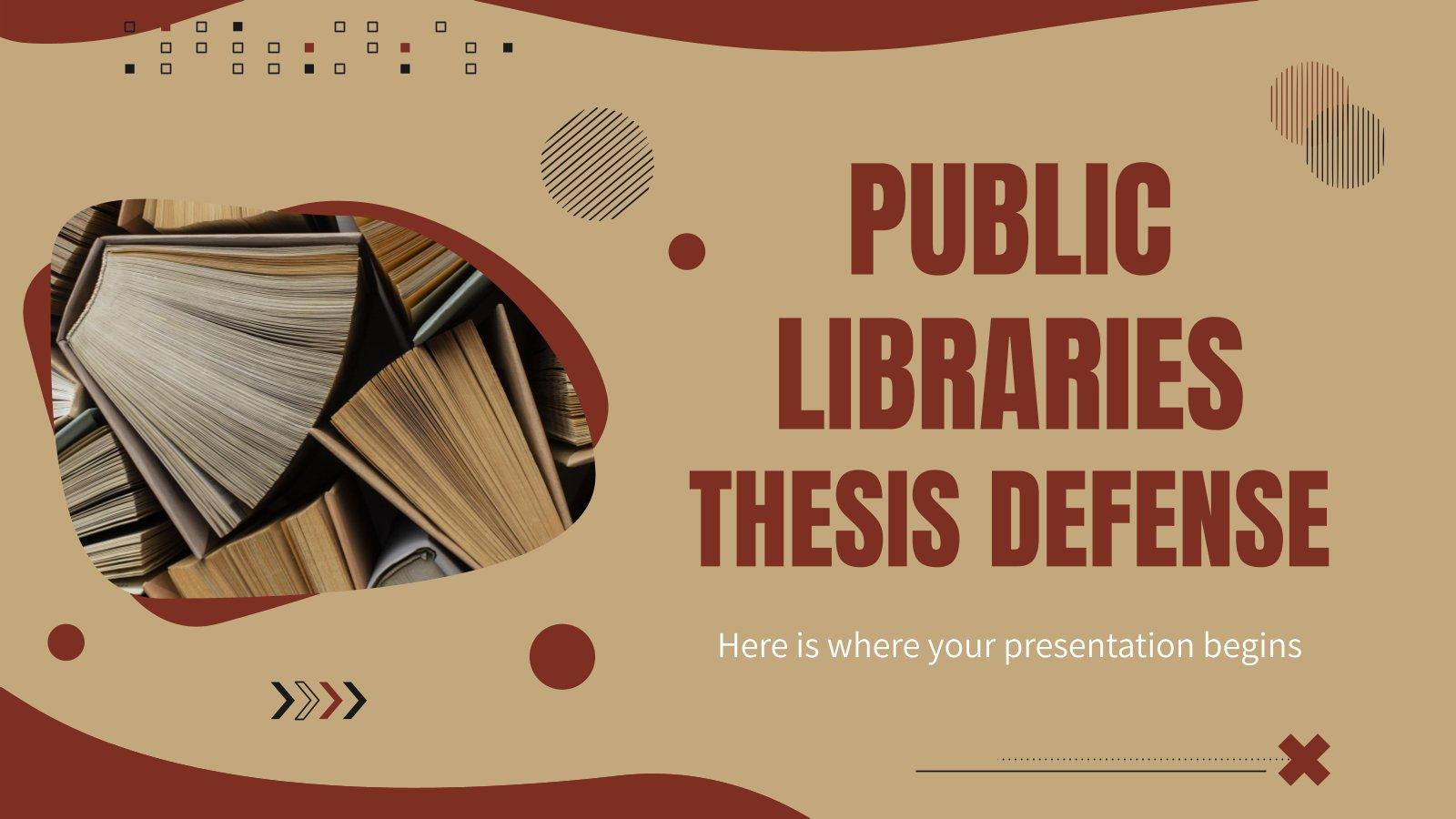 Public Libraries Thesis Defense presentation template