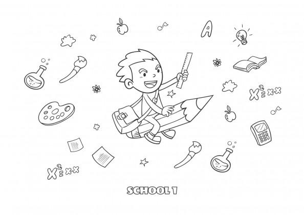 Curious Monkey Printable Illustrations presentation template
