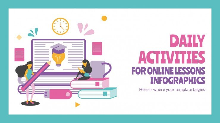 Daily Activities for Online Lessons Infographics
