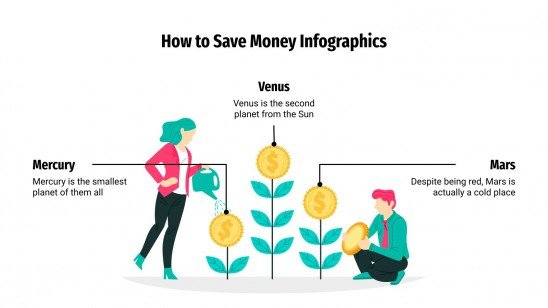 How to Save Money Infographics presentation template