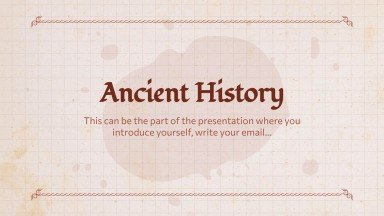 Social Studies & History Subject for Middle School - 6th Grade: Ancient World History presentation template