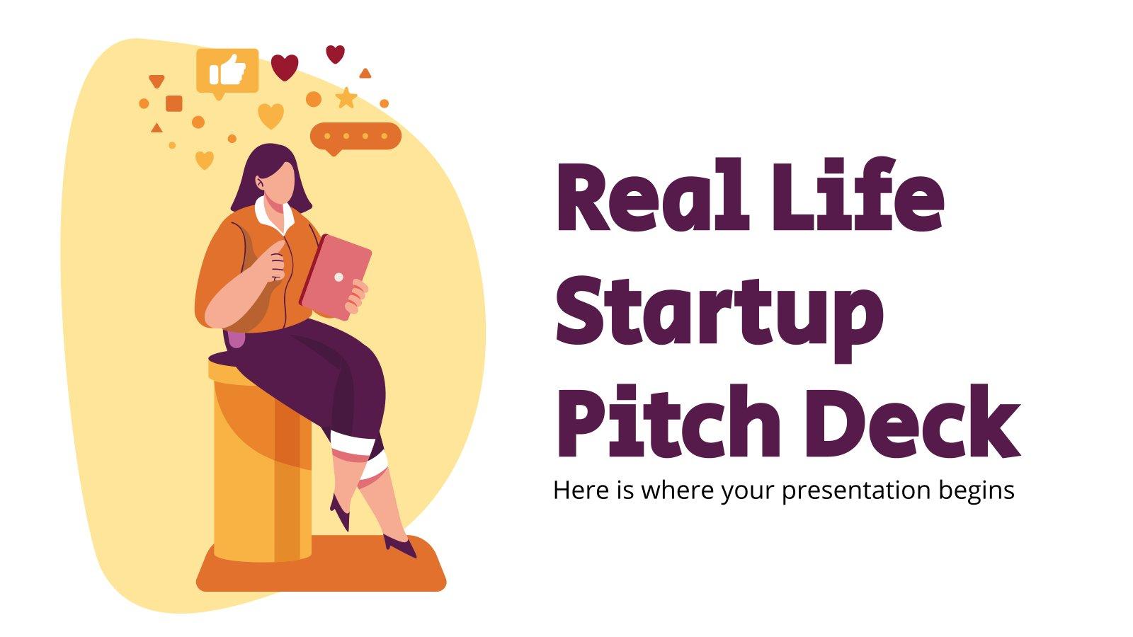 Real Life Startup Pitch Deck Präsentationsvorlage