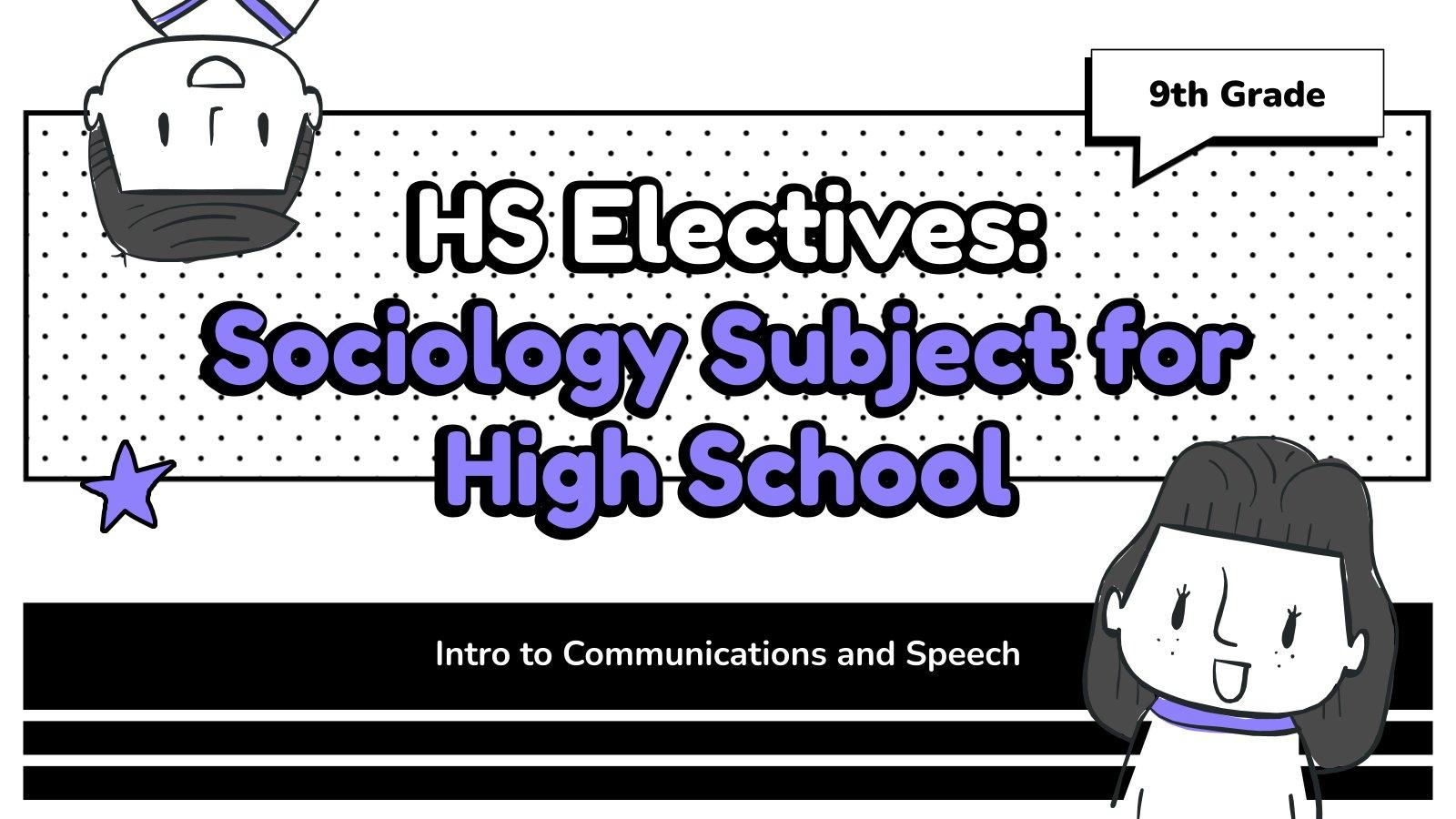 Soziologie für High School Präsentationsvorlage
