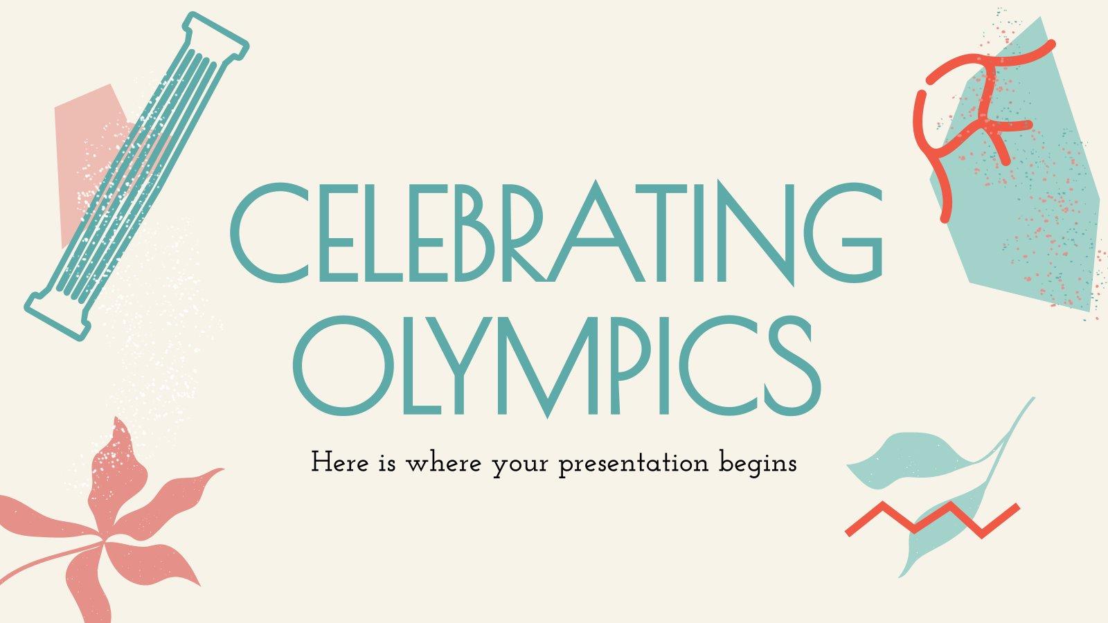 Celebrating Olympics presentation template
