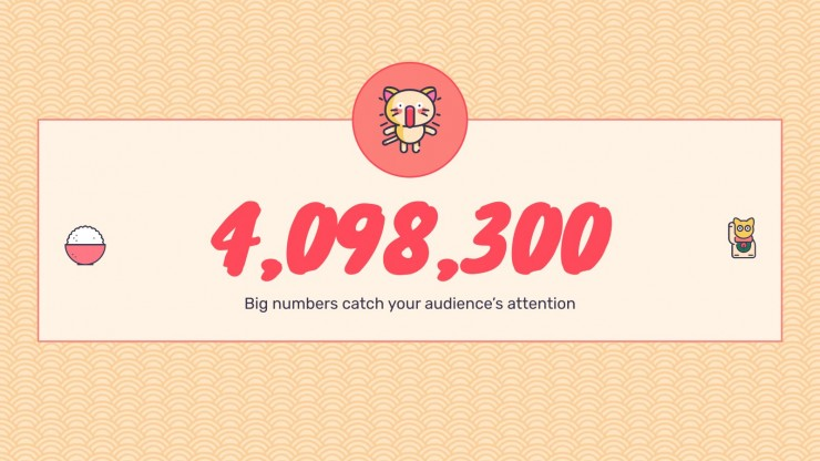 Kawaii Cats for Social Media presentation template
