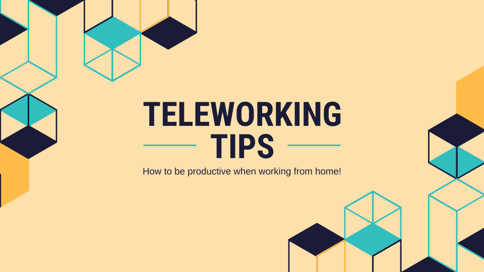 Teleworking Tips presentation template