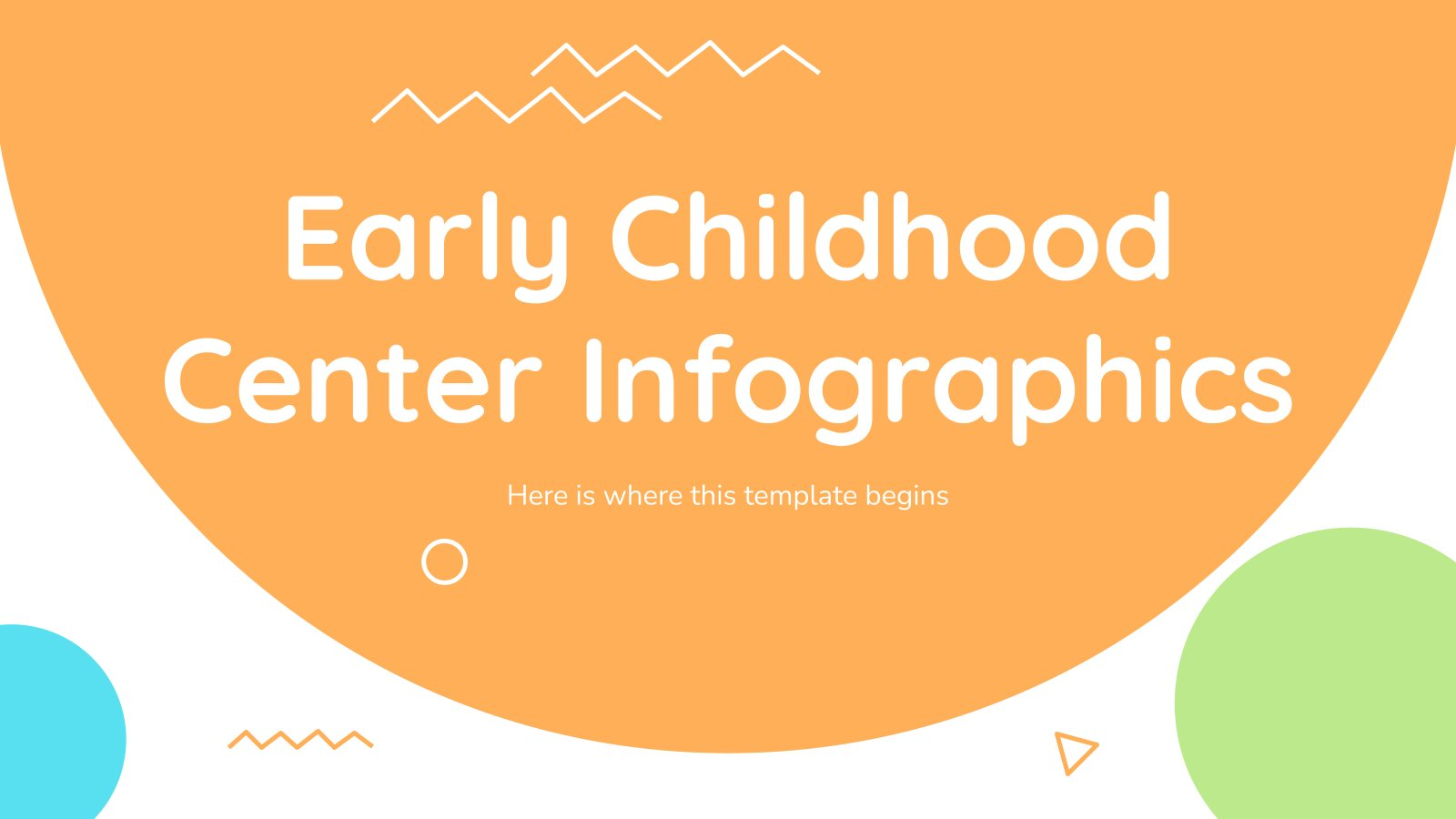 Early Childhood Center Infographics presentation template