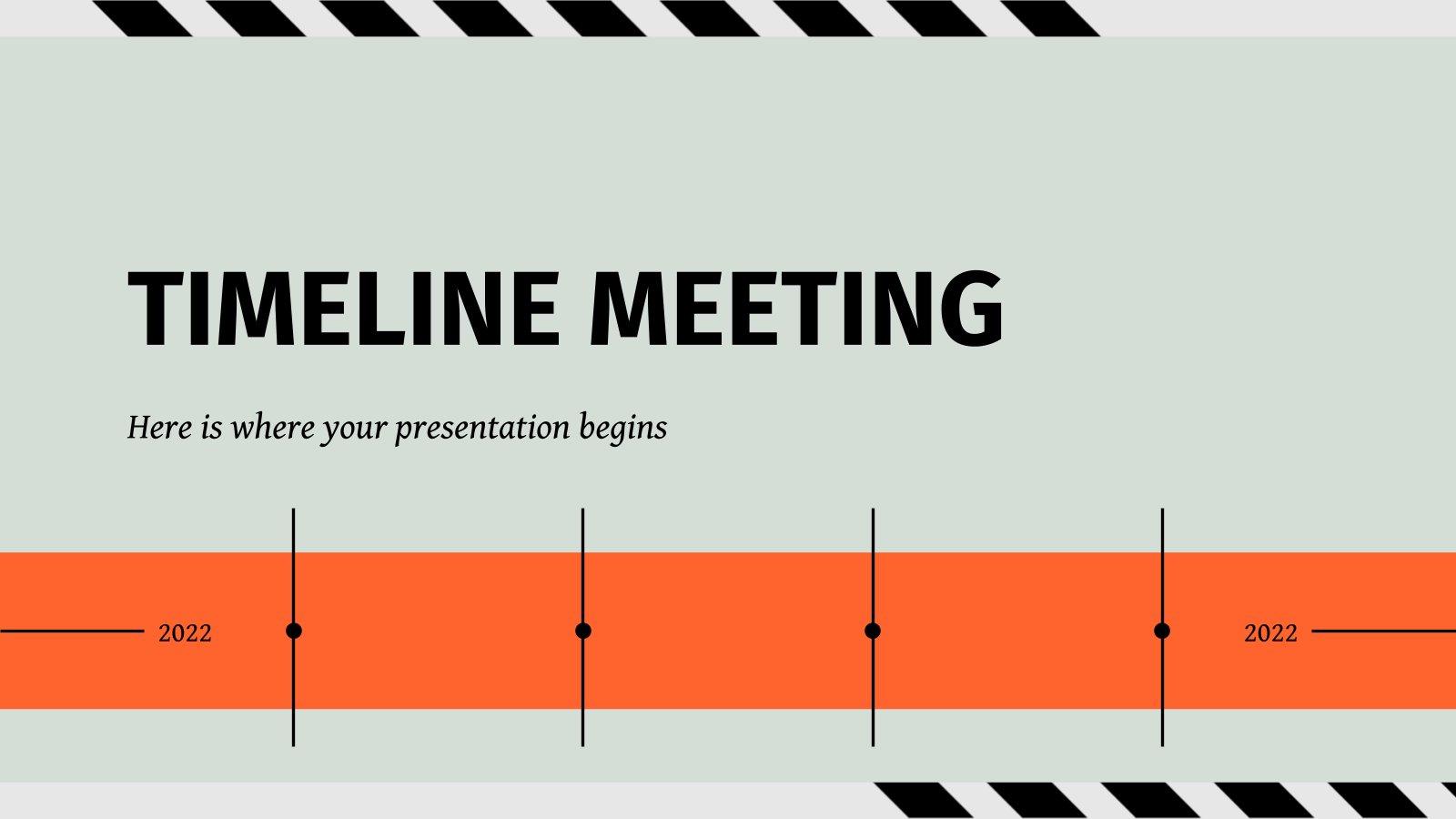 Timeline Meeting presentation template
