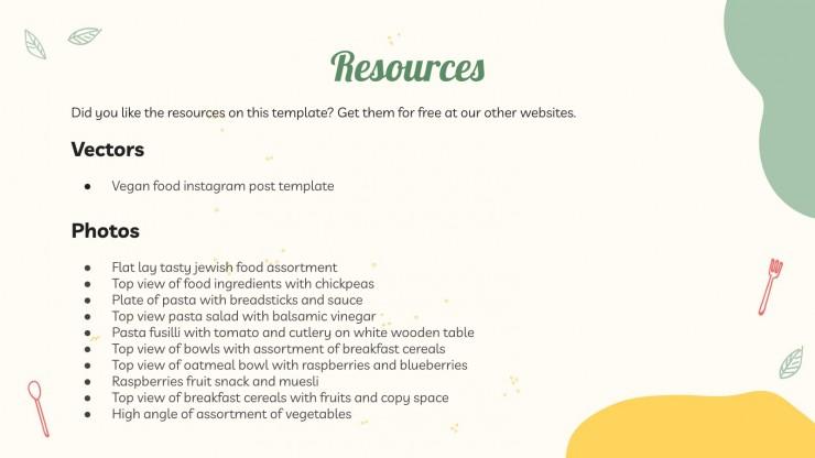 Vegan Digital Menu Board presentation template