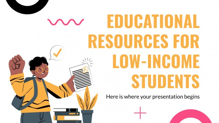 Educational Resources for Low-Income Students Thesis presentation template