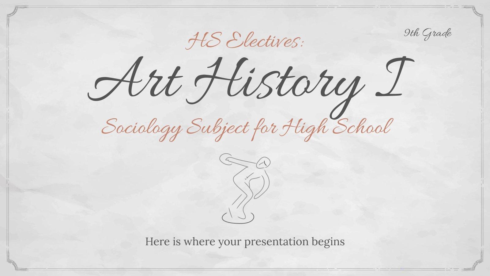 Modelo de apresentação Sociologia para o ensino médio: História da arte
