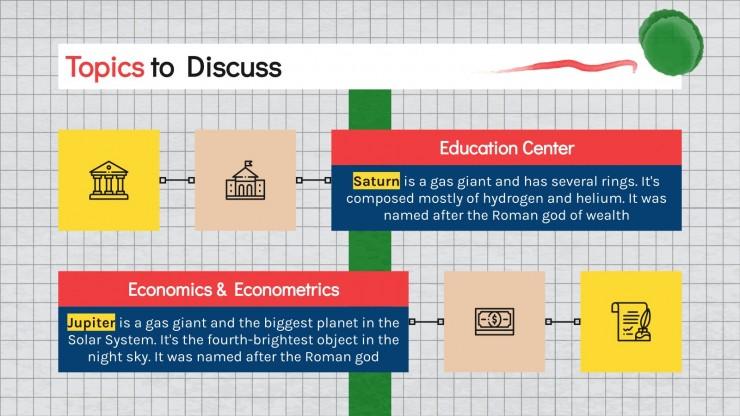 Economics & Econometrics Major for College presentation template