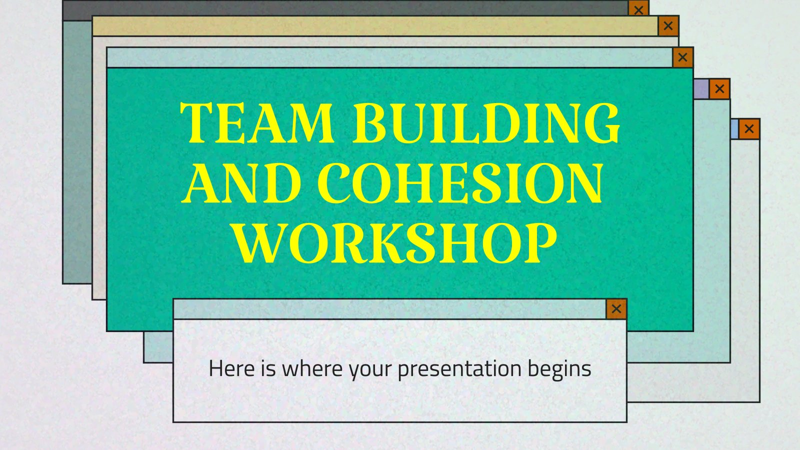 Team Building and Cohesion Workshop presentation template