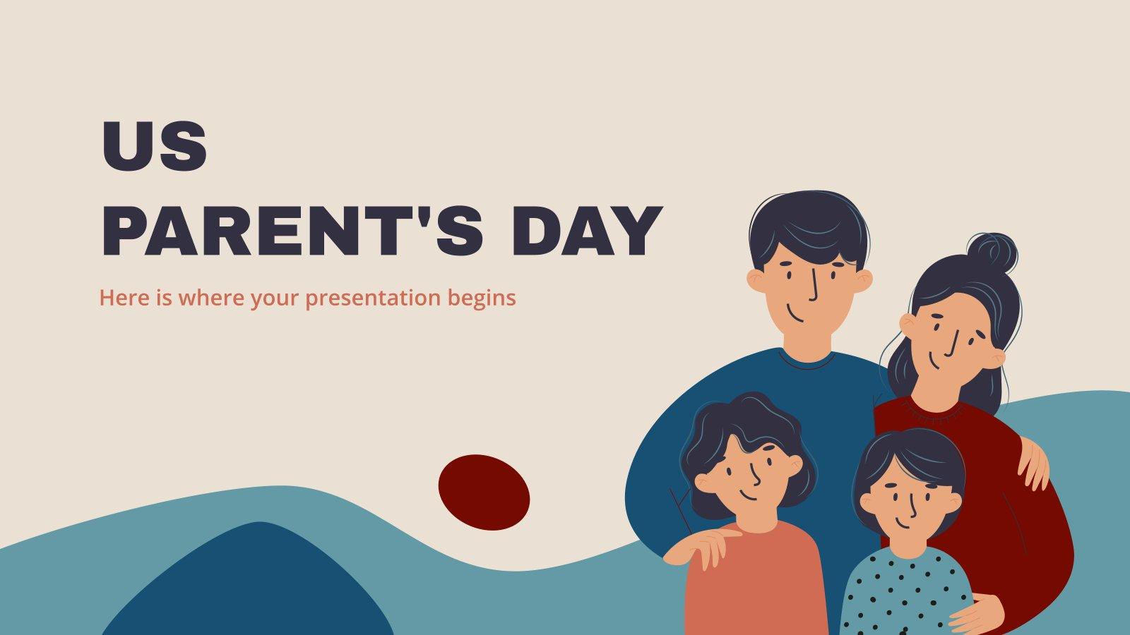 Modelo de apresentação Dia dos Pais nos EUA
