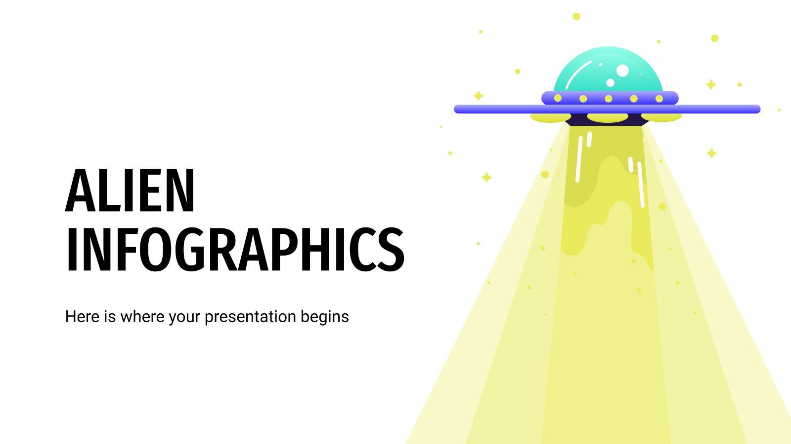 Alien Infographics presentation template