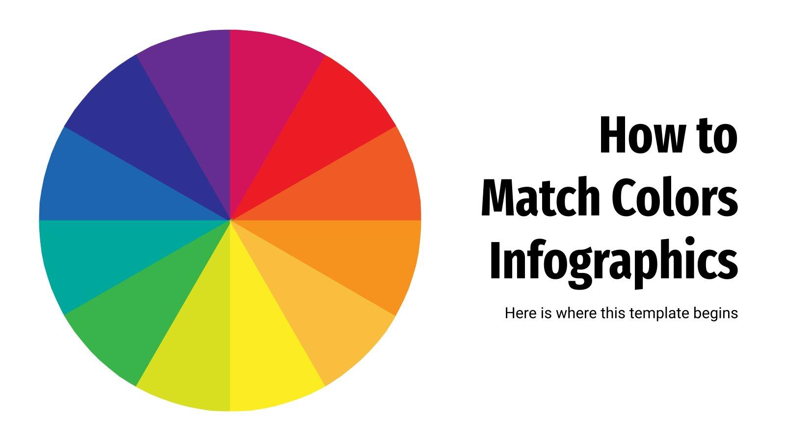 Farben zusammenstellen Infografiken Präsentationsvorlage