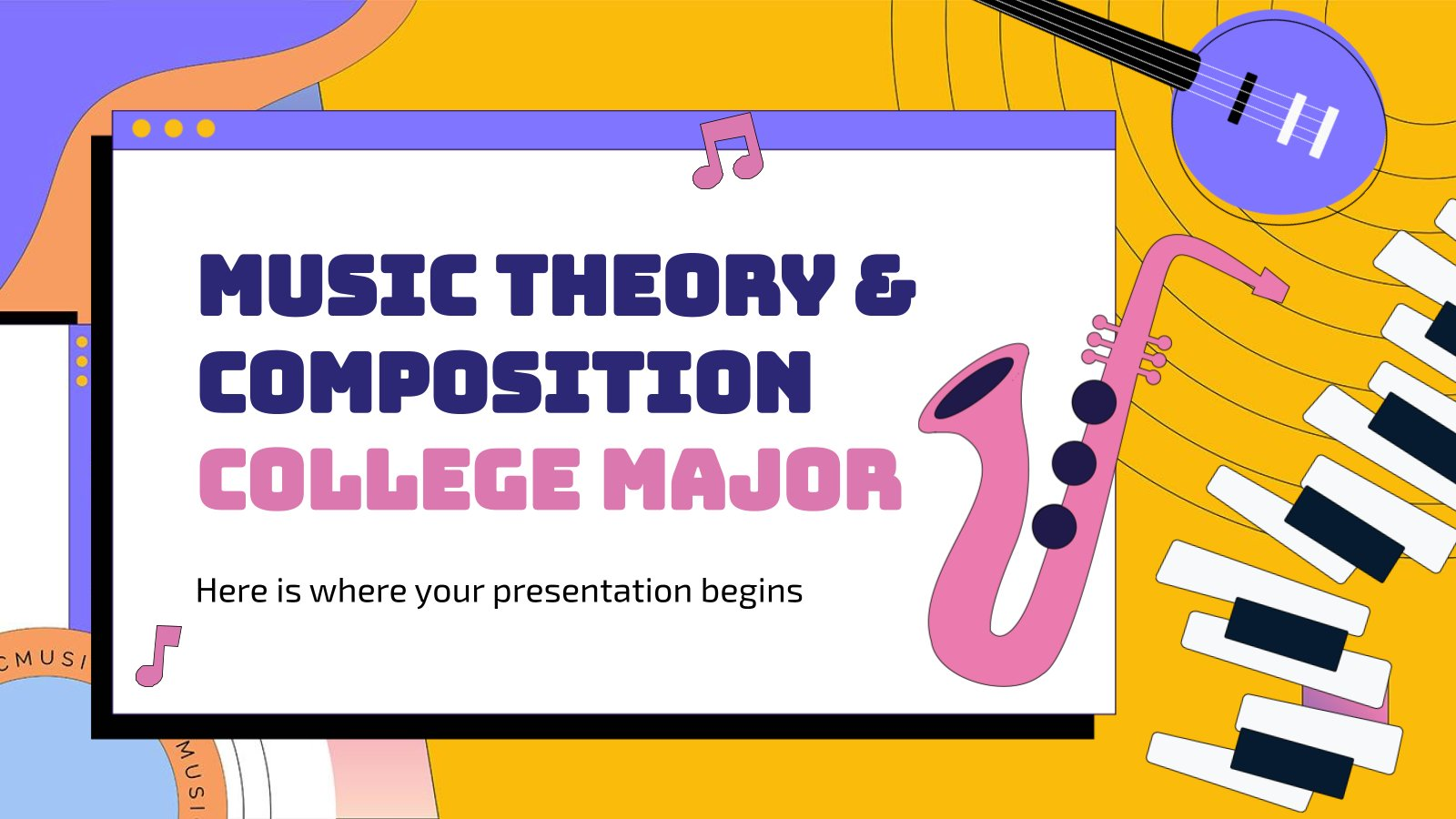 Music Theory & Composition College Major presentation template