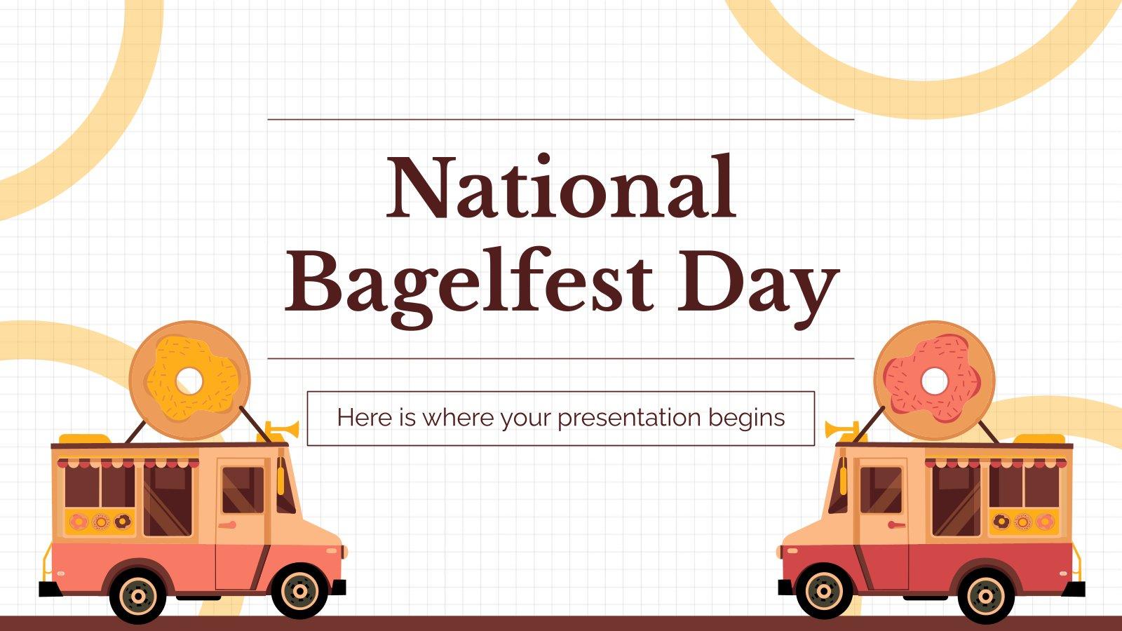 Modelo de apresentação Dia Nacional do Bagel