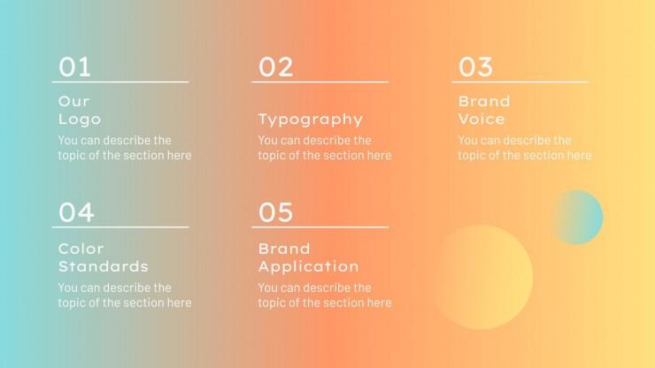 Plantilla de presentación Branding para redes sociales