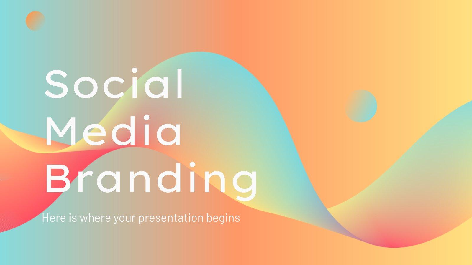 Social-Media Markenrichtlinien Präsentationsvorlage