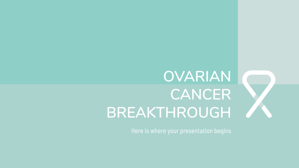 Ovarian Cancer Breakthrough presentation template