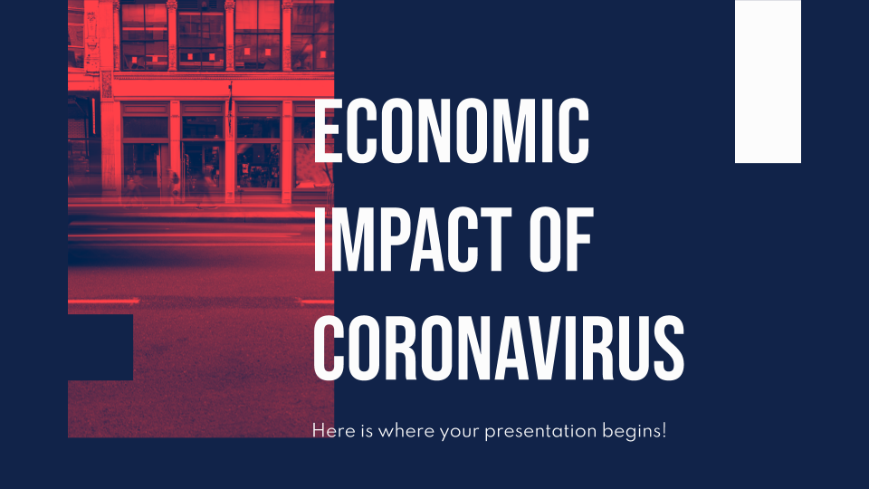 Plantilla de presentación Impacto económico del coronavirus