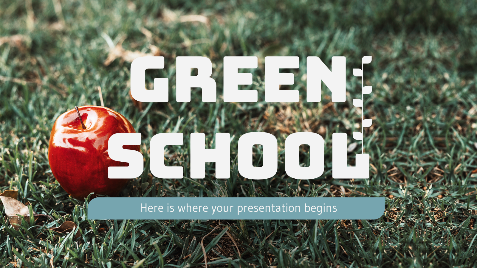 Green School presentation template