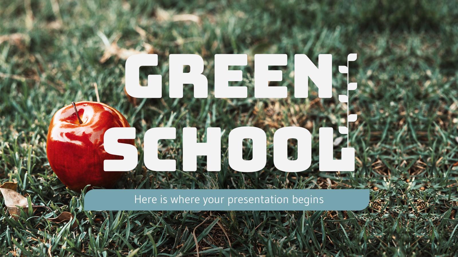 Plantilla de presentación Escuela ecológica