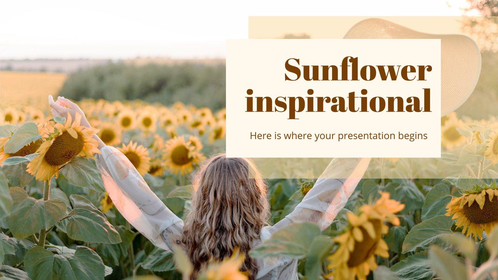 Sunflower Inspirational Presentation presentation template
