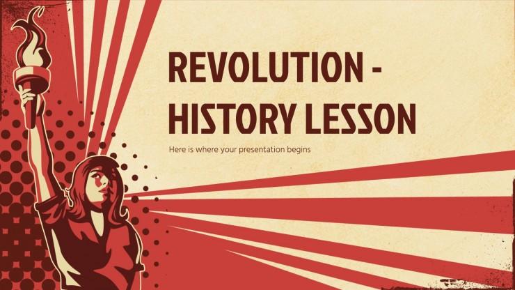 Revolution - Geschichtsunterricht Präsentationsvorlage