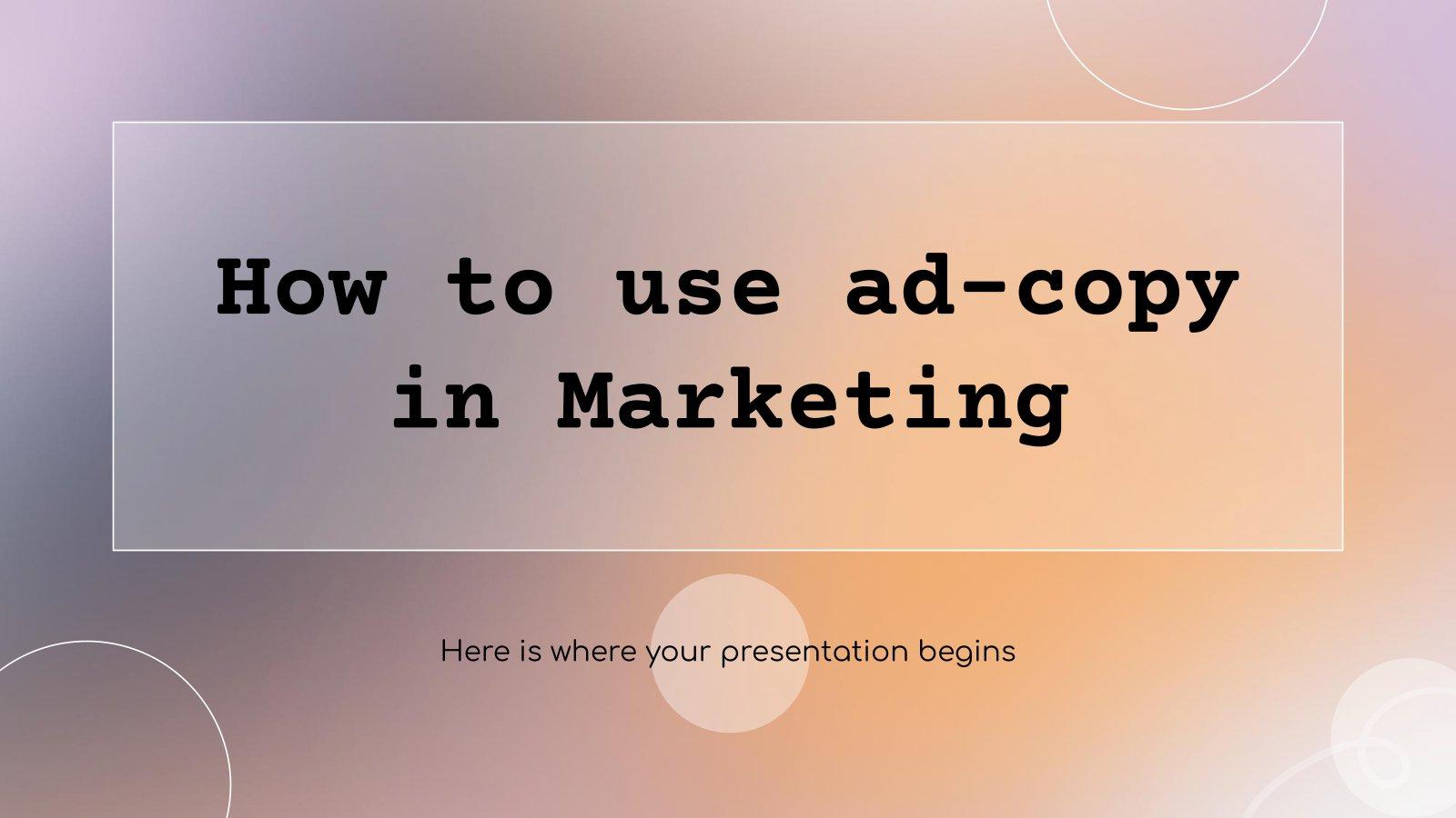 Wie man Werbetexte richtig einsetzt Präsentationsvorlage