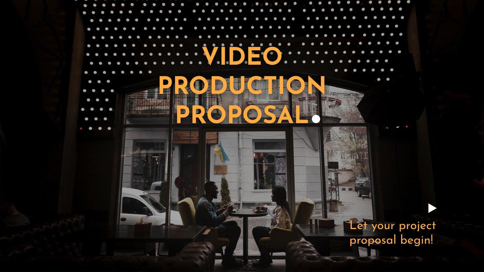 Vorschlag Videoproduktion Präsentationsvorlage