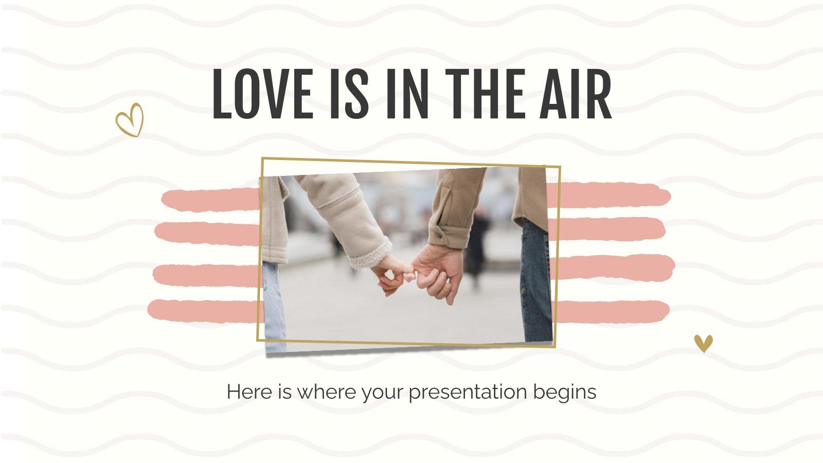 Modelo de apresentação O amor está no ar