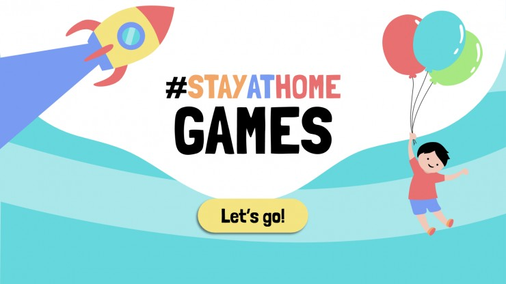 #StayAtHome Games presentation template