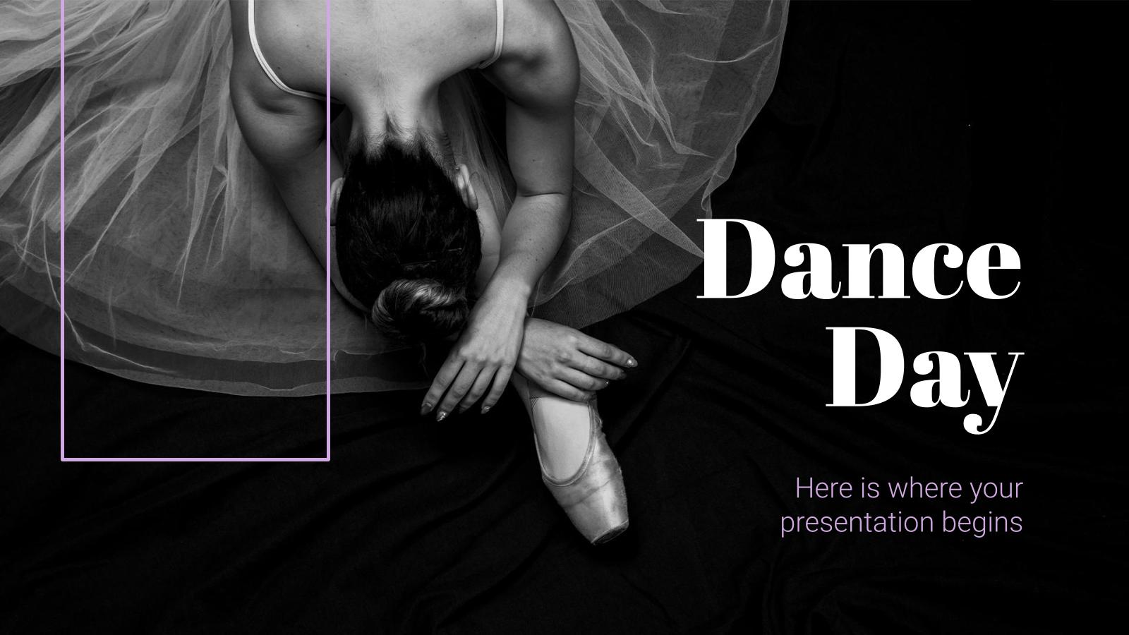 Modelo de apresentação Dia Internacional da Dança