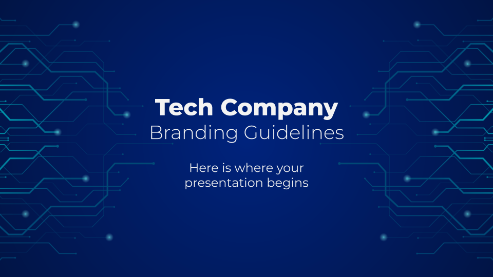 Tech Company Branding Guidelines presentation template