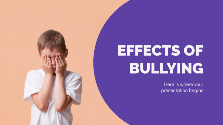 Effects of Bullying presentation template