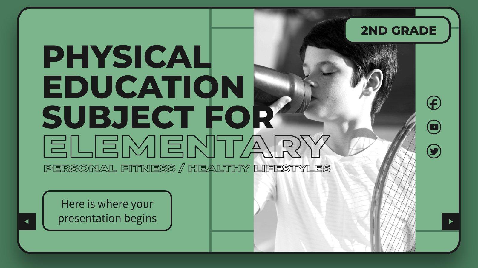 Modelo de apresentação Educação física para o ensino básico: Exercício físico / Estilos de vida saudáveis