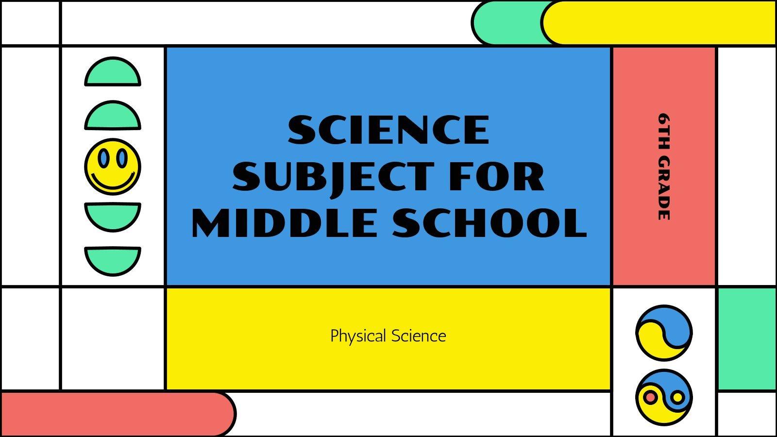 Naturwissenschaft für die 6. Klasse: Physik Präsentationsvorlage