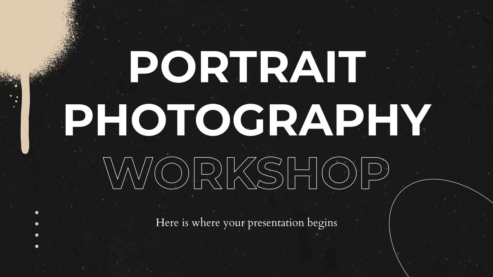 Portrait Photography Workshop presentation template