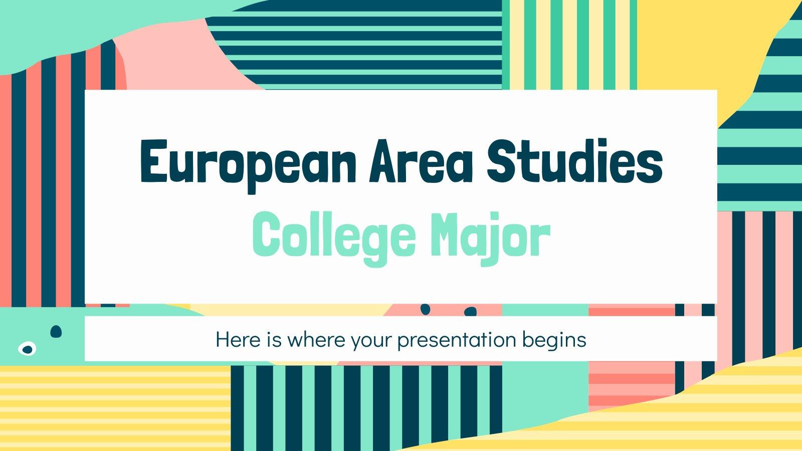 European Area Studies College Major presentation template